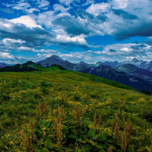 Fillière, le plateau des Glières (1450m)
